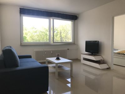 Photo for Newly renovated, fully furnished 2 bedroom apartment. 2 room app near the fair