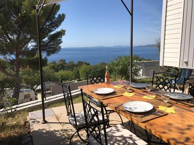 Photo for Mobile home with sea and Ile d'Or view in St Raphael