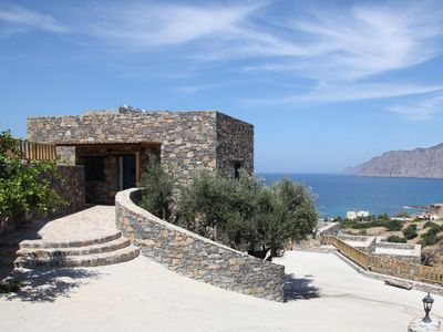 Photo for Beautiful stone house with spectacular sea view!