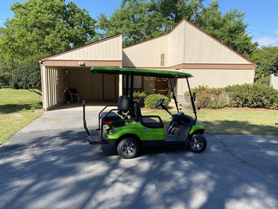 Brand new Ikon electric golf cart.  Seat belts installed.