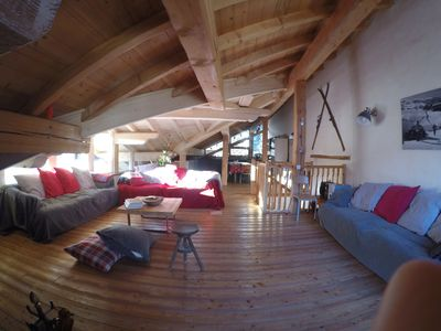 Photo for Large charming 5-bedroom chalet connected to Arcs 2000