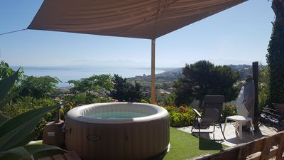 Photo for Villa with sea view patio and jacuzzi