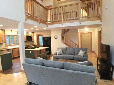 Photo for Whitetail Lodge -- spacious Bar Harbor Post & Beam on 5 secluded acres