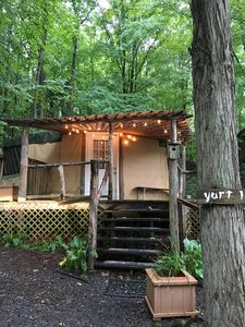 Photo for Spacious, airy yurt for glamping in comfort!