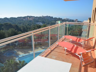 Photo for LUXURIOUS APARTMENT RECENT RESIDENCE SWIMMING POOL SPLENDID VIEW