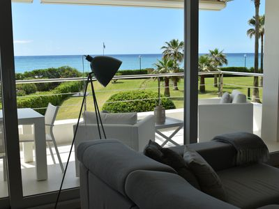 Photo for LUXURIOUS APARTMENT IN FRONT OF THE BEACH GAVA MAR