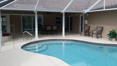 Spacious Pool Area and Screened Lanai