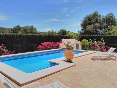 Photo for Superb Villa private pool and garden on La Cala in Javea, WiFi, Sun all day UKTV