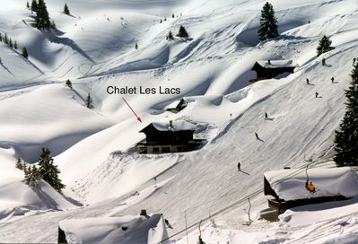 The chalet on the slopes