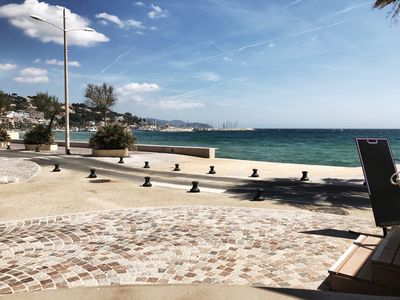Photo for New apartment and equipped seafront in Le Lavandou