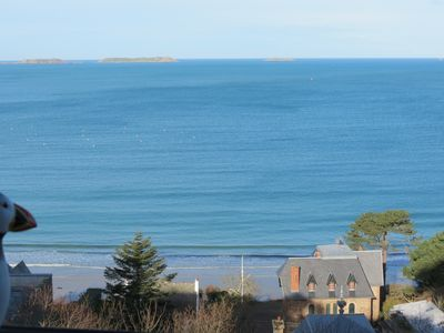 Photo for Studio Ar Gwel, panoramic sea view, South terrace, Wifi, Perros-Guirec
