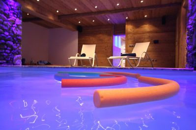 Indoor Swimming Pool with Atmospheric Floats!