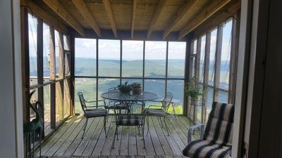 Photo for Lookout Mountain Brow Home. Large Sunset Deck, Covered Hot Tub, Screened Porch.