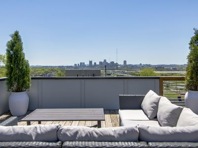 Photo for F3) New Modern Home W/ Huge Rooftop Deck & Great Downtown Nashville Views