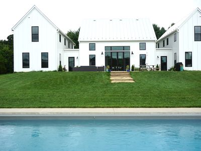 Photo for Fab Modern Farm House in heart of Charlottesville! 10 mins to UVA! Heated POOL!
