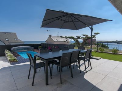 Photo for Blow of heart assured for this villa 5 * with swimming pool and SPA face sea