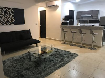 We have this modern apartment designed to satisfy the most demanding tourists.