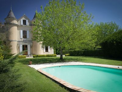 Photo for Dordogne / Aquitaine Lovely small chateau with heated pool. 20% off in July 19!