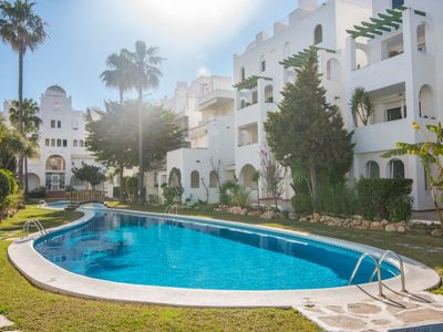 Photo for 3 bedroom Apartment, sleeps 5 in Javea with Pool, Air Con and WiFi