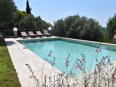 Photo for SUPERB VILLA SWIMMING POOL CH. CLIMATISEE 5 'LAKE / 20-30' SEA CANNES MANDELIEU FREJUS