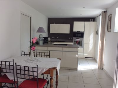 Photo for Pretty fisherman's house in the heart of Kerity, 300 m from the beach and shops