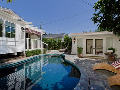 Photo for Designer West Hollywood Bungalow, Heated Pool, Guest House, Walk to Everything