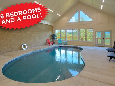 Photo for A Pool with a View! 6 bedrooms sleeps 20!