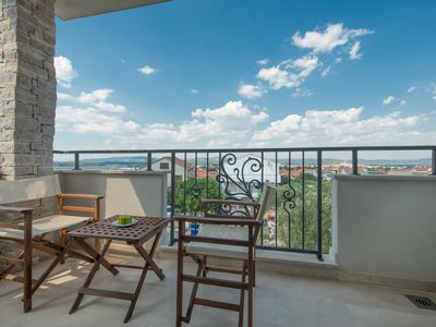 Photo for Two bedroom apartment with terrace and sea view Murter (A-16655-c)