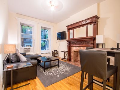 Photo for Sunny one bedroom apt one block from central park 30 DAY MINIMUM RENTAL
