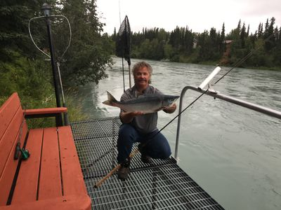Photo for Private Home & 40' Dock fishing right on the Kenai river