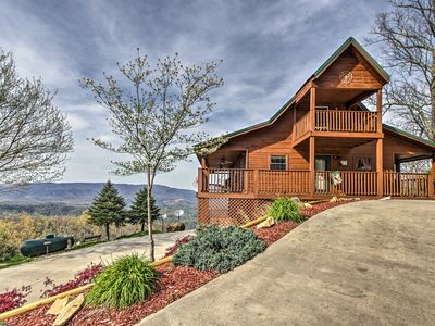 Photo for Copasetic Pigeon Forge Home w/Wide Wraparound Deck