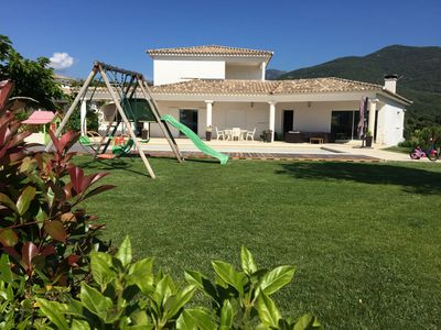 Photo for Villa close beach, any comfort, seen sea, swimming pool, air-conditioning.