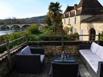 Photo for Cottage L'Enea Terrasse, Penthouse River View, Family Treat with Pool & Gardens