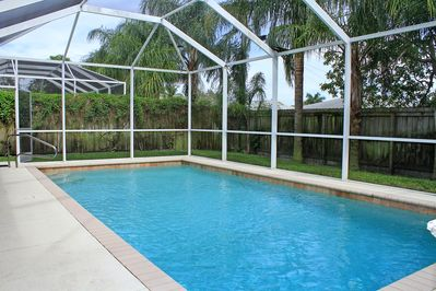 Enjoy the Outdoors by the private heated Pool