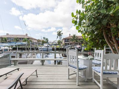"Photo for ""Vitamin Sea"" Waterfront condo with deck and grill"