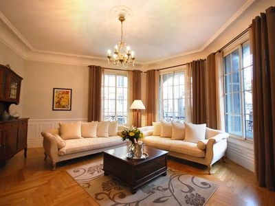 Photo for Magnificent 'Belle Epoque' 3 Bedroom, 3 Bathroom Apartment in Carré D'Or, Nice.