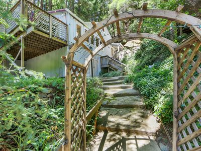 Photo for NEW LISTING! Charming woodland home w/deck & patio-near Russian River