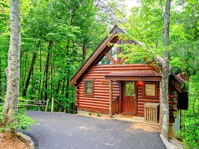 Photo for Semi-secluded - Perfect Honeymoon Cabin - Wooded Setting - $89.00 Per Night