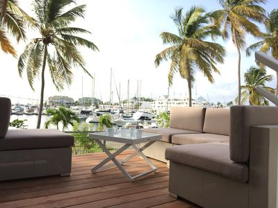 Photo for Marina an nou. Flat terrace 51m2 in front line with the Marina