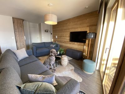 Photo for 100m2 high standing apartment with 3 suites, SKI IN SKI OUT