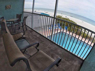 Photo for SPECIAL $1,200/wk any week 4/27 - 5/25.  DIRECTLY ON BEACH.  HEATED POOL