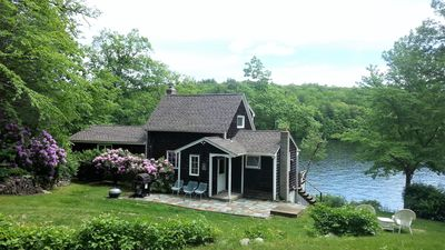 Photo for Private lakefront home, 300' on lake, dock, beach, boat ramp, 40 miles to Boston
