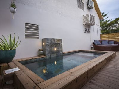 Photo for Furnished tourist, classified 4 * with swimming pool, 2 to 3 pers in St Gilles les Bains