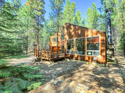 Photo for Unique & memorable home in quiet forest setting - shared pool & hot tub!
