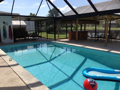 Photo for Beautiful Home on a Salt Water Canal with Huge 30' x15' POOL