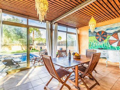 Photo for Contemporary villa close to town w/ private gated pool, BBQ & free Wi-Fi