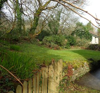 garden at rear of cottage
