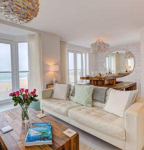 Photo for Stunning St Ives SeaView House Sleeps 12. Family & Pet friendly.  Parking , wifi, balcony & garden.