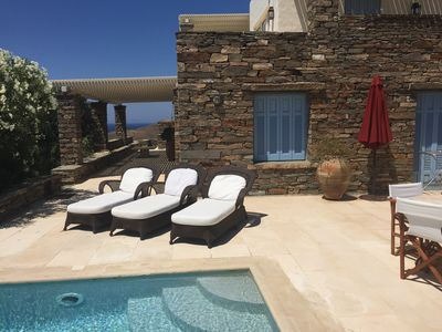Photo for comfortable house, amazing sea/sunset view and private pool