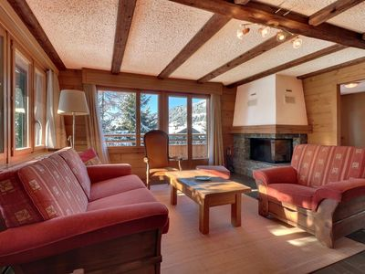 """Photo for 4 nice piece apartment on the 1st floor of the chalet, near to teleski """"Le Rouge"""".  Composition :"""